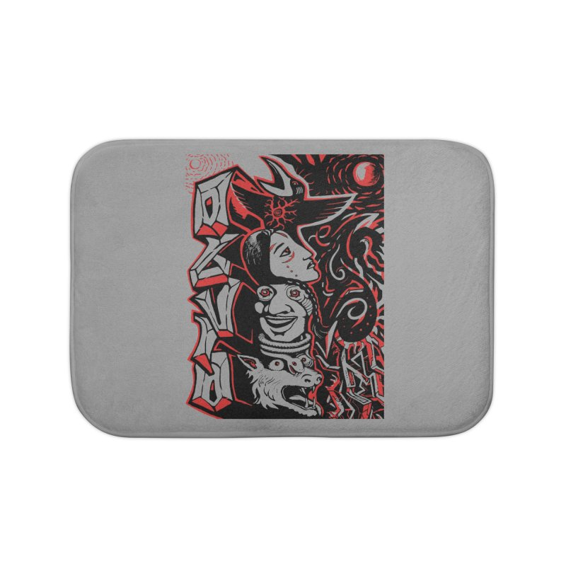 totem red Home Bath Mat by truthpup's Artist Shop