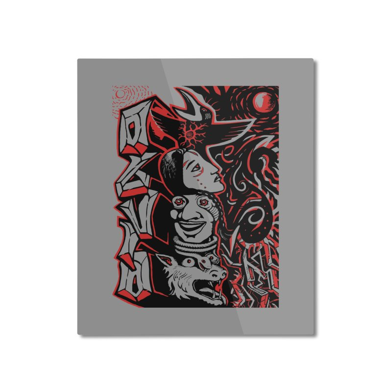 totem red Home Mounted Aluminum Print by truthpup's Artist Shop