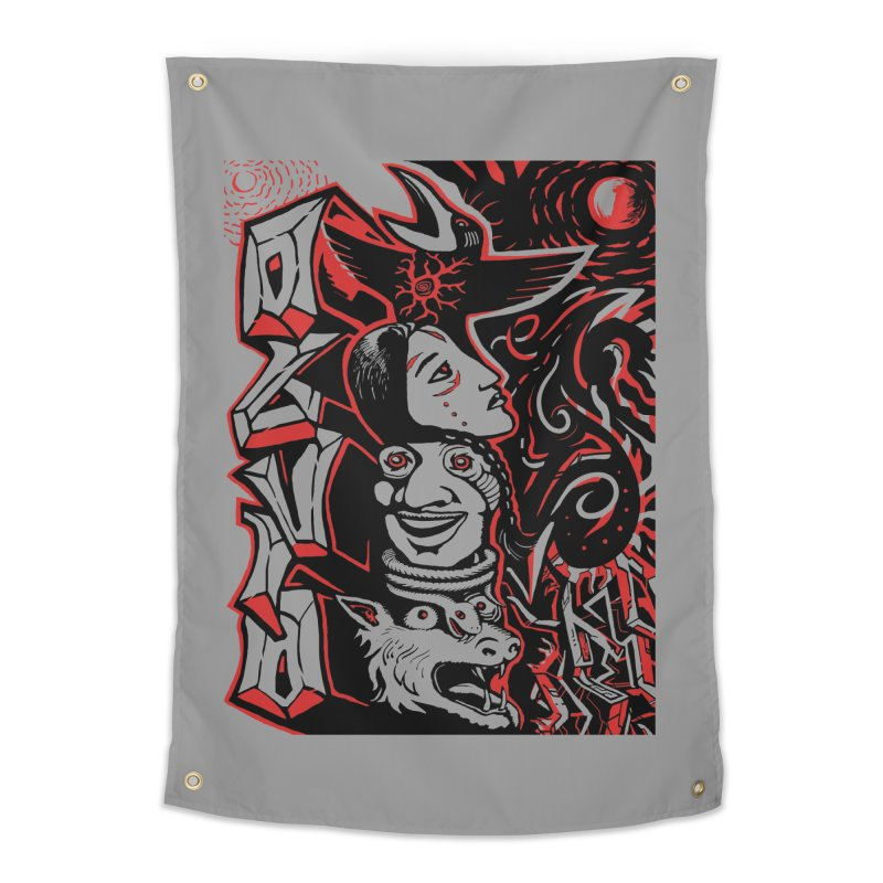 totem red Home Tapestry by truthpup's Artist Shop