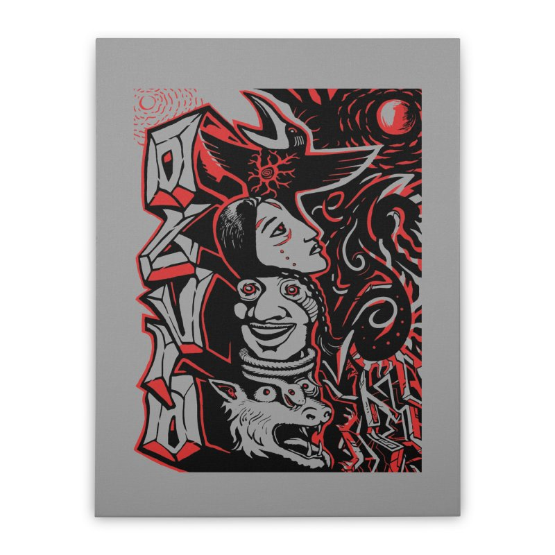 totem red Home Stretched Canvas by truthpup's Artist Shop