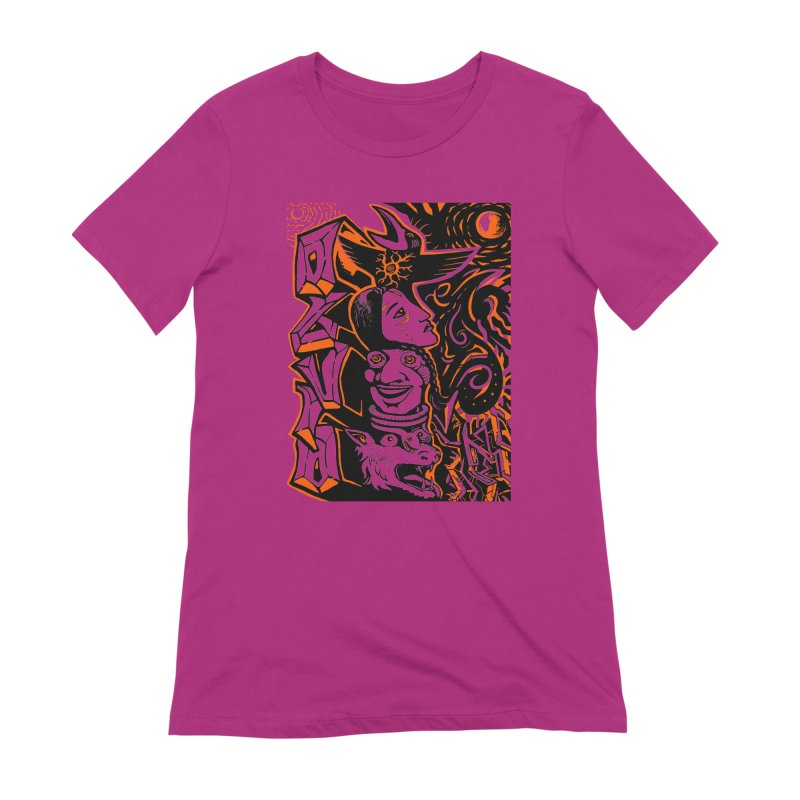 TOTEM ORANGE Women's Extra Soft T-Shirt by truthpup's Artist Shop
