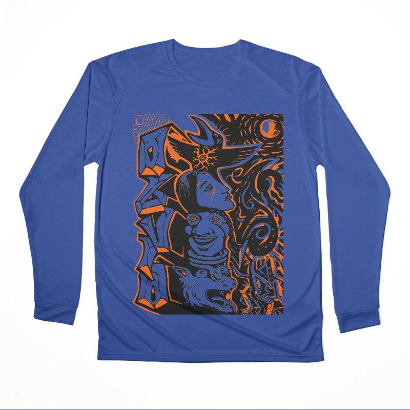 TOTEM ORANGE Men's Performance Longsleeve T-Shirt by truthpup's Artist Shop