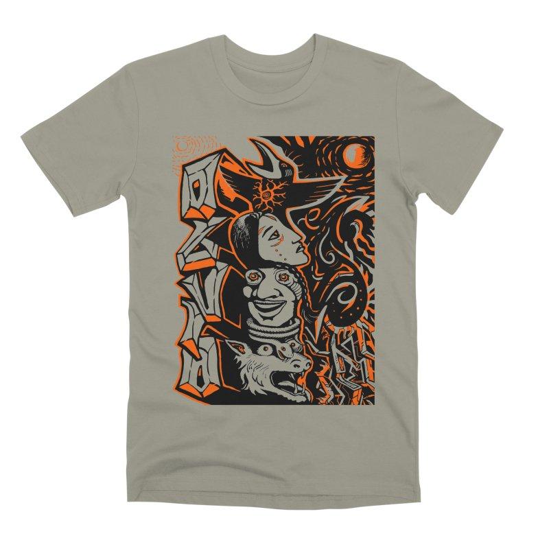 TOTEM ORANGE Men's Premium T-Shirt by truthpup's Artist Shop