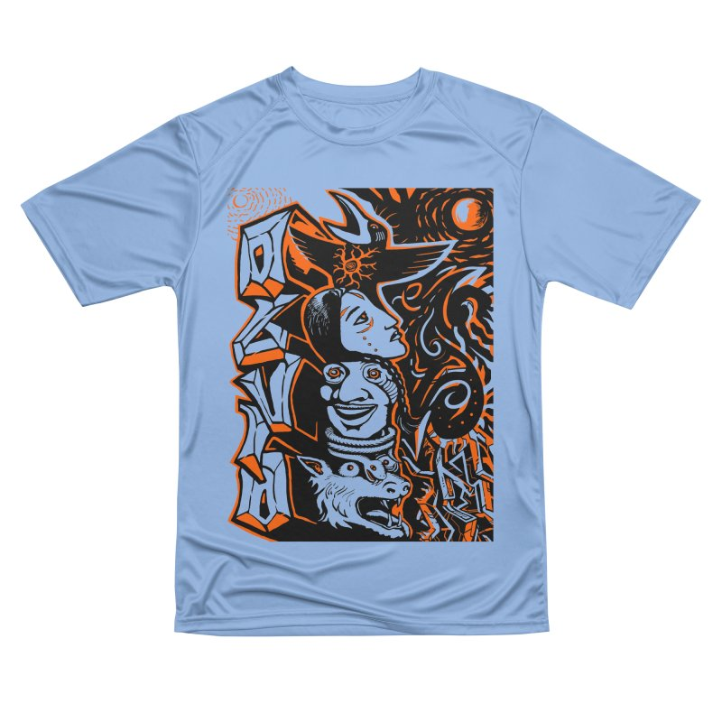 TOTEM ORANGE Men's Performance T-Shirt by truthpup's Artist Shop