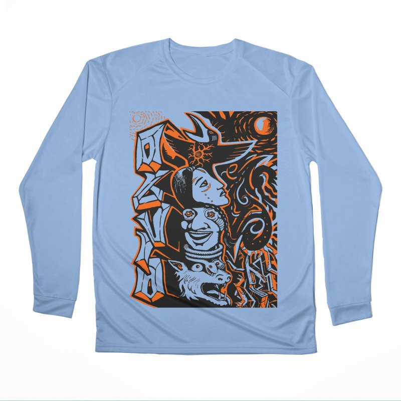 TOTEM ORANGE Women's Performance Unisex Longsleeve T-Shirt by truthpup's Artist Shop