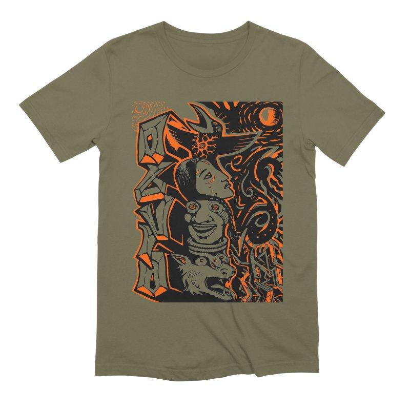 TOTEM ORANGE Men's Extra Soft T-Shirt by truthpup's Artist Shop