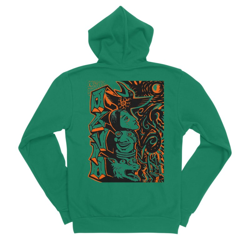 TOTEM ORANGE Women's Sponge Fleece Zip-Up Hoody by truthpup's Artist Shop