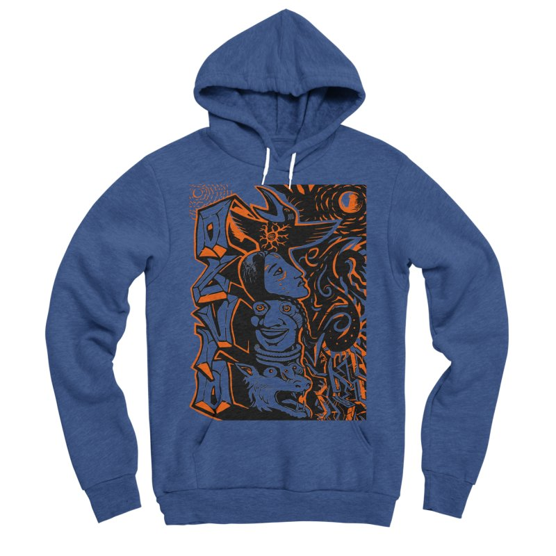 TOTEM ORANGE Men's Sponge Fleece Pullover Hoody by truthpup's Artist Shop