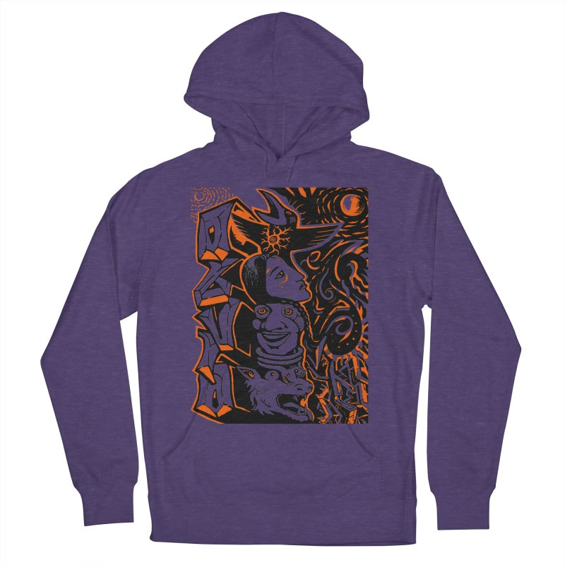 TOTEM ORANGE Men's French Terry Pullover Hoody by truthpup's Artist Shop