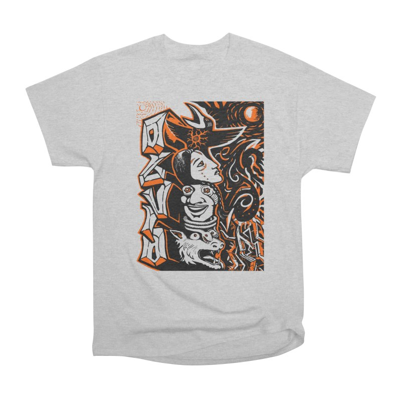 TOTEM ORANGE Men's Heavyweight T-Shirt by truthpup's Artist Shop