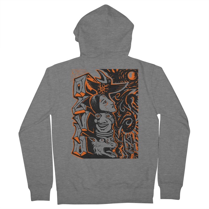 TOTEM ORANGE Women's French Terry Zip-Up Hoody by truthpup's Artist Shop