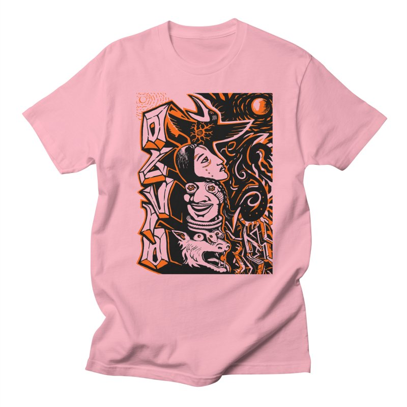TOTEM ORANGE Men's Regular T-Shirt by truthpup's Artist Shop