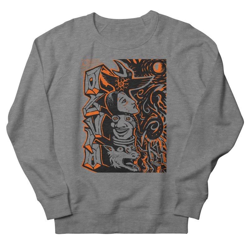 TOTEM ORANGE Men's French Terry Sweatshirt by truthpup's Artist Shop