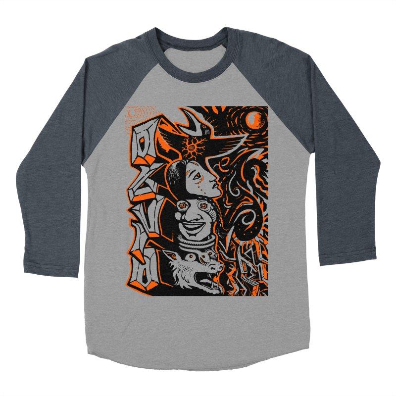 TOTEM ORANGE Men's Baseball Triblend Longsleeve T-Shirt by truthpup's Artist Shop