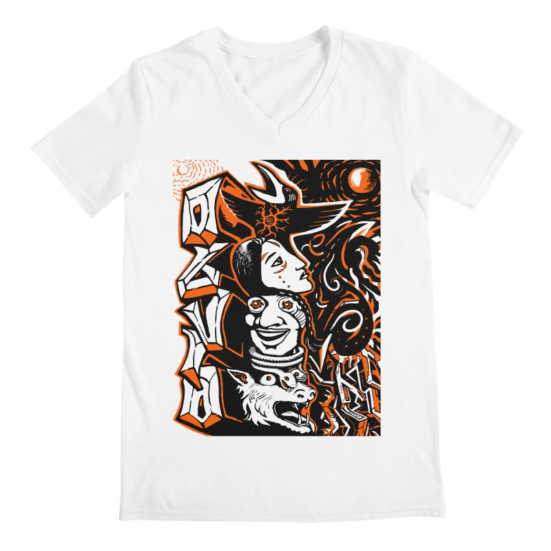TOTEM ORANGE Men's Regular V-Neck by truthpup's Artist Shop