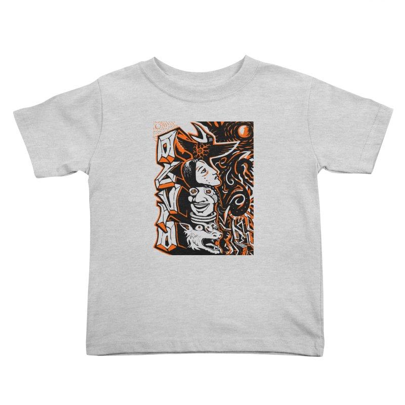 TOTEM ORANGE Kids Toddler T-Shirt by truthpup's Artist Shop