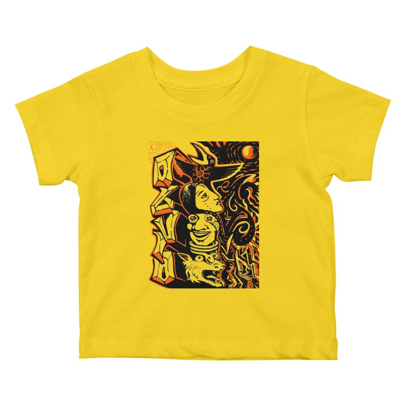 TOTEM ORANGE Kids Baby T-Shirt by truthpup's Artist Shop