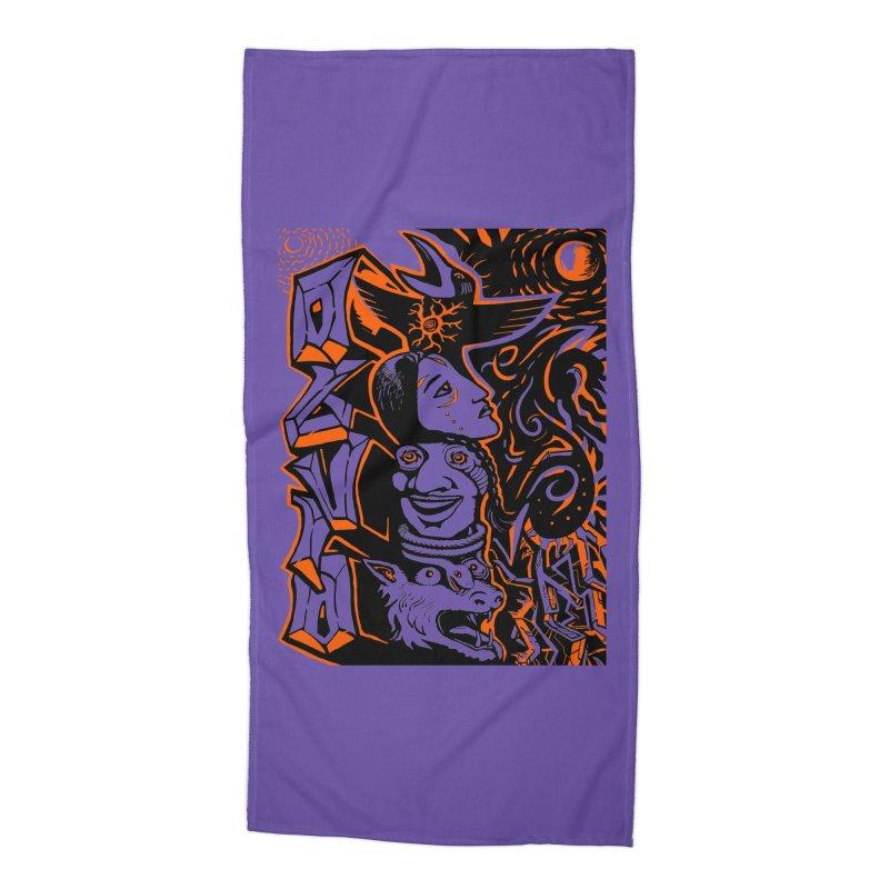 TOTEM ORANGE Accessories Beach Towel by truthpup's Artist Shop