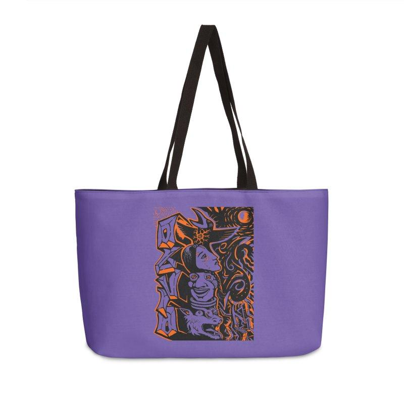 TOTEM ORANGE Accessories Weekender Bag Bag by truthpup's Artist Shop
