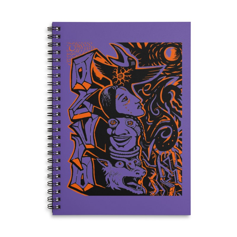 TOTEM ORANGE Accessories Lined Spiral Notebook by truthpup's Artist Shop