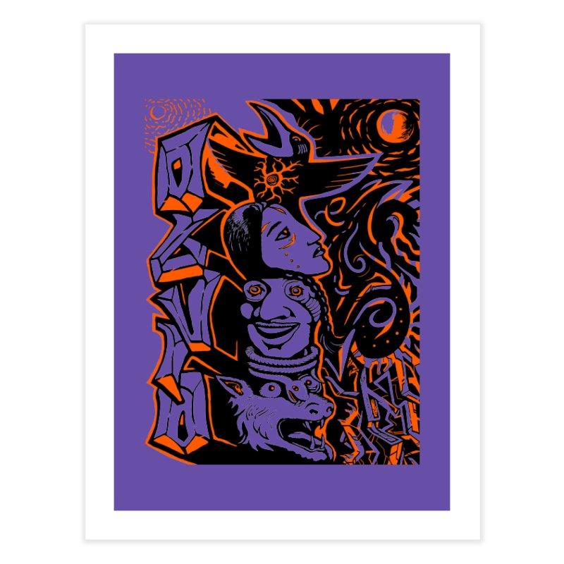 TOTEM ORANGE Home Fine Art Print by truthpup's Artist Shop