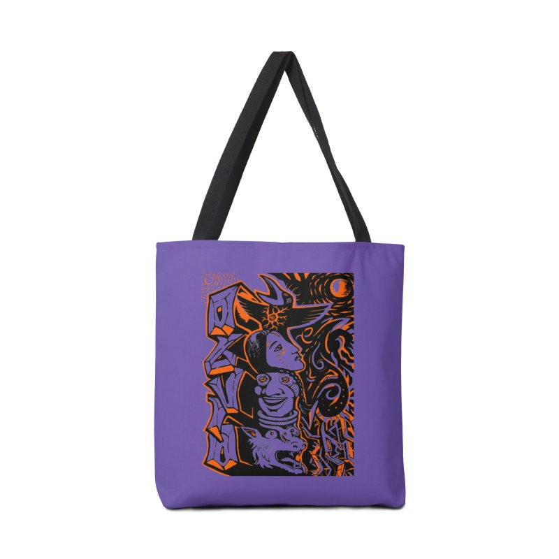 TOTEM ORANGE Accessories Tote Bag Bag by truthpup's Artist Shop