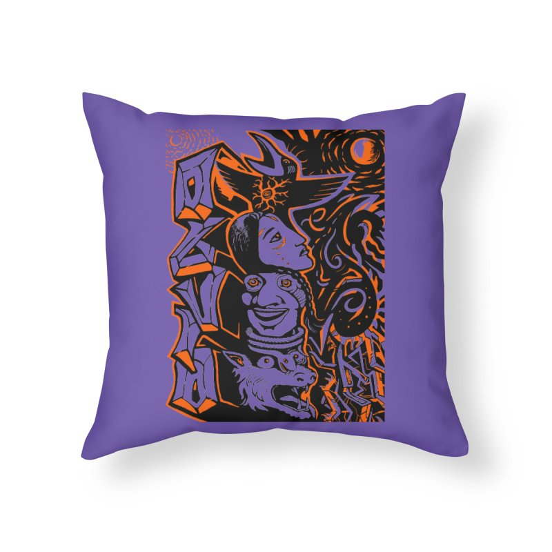 TOTEM ORANGE Home Throw Pillow by truthpup's Artist Shop