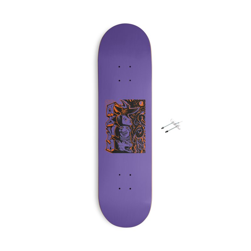 TOTEM ORANGE Accessories With Hanging Hardware Skateboard by truthpup's Artist Shop