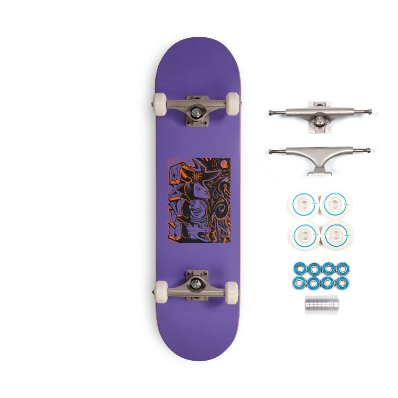 TOTEM ORANGE Accessories Complete - Basic Skateboard by truthpup's Artist Shop