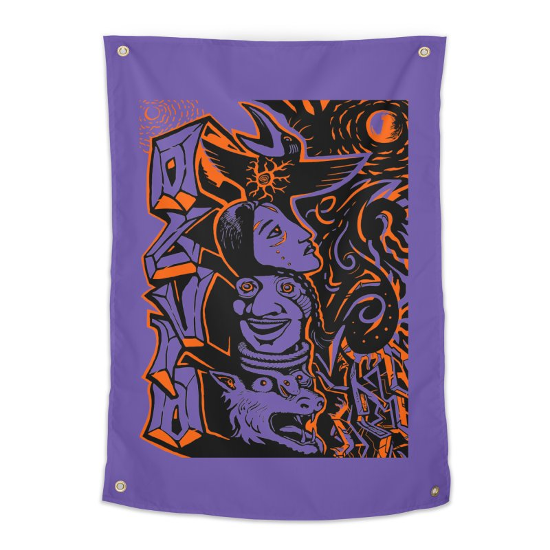 TOTEM ORANGE Home Tapestry by truthpup's Artist Shop