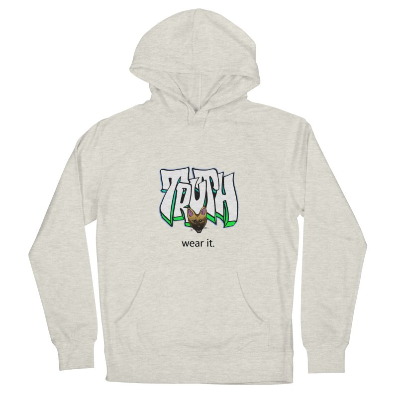 Truth and pup Women's French Terry Pullover Hoody by truthpup's Artist Shop