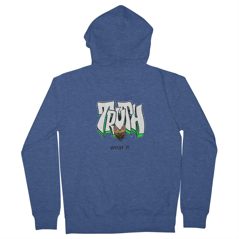 Truth and pup Women's French Terry Zip-Up Hoody by truthpup's Artist Shop
