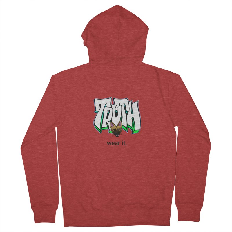 Truth and pup Men's Zip-Up Hoody by truthpup's Artist Shop