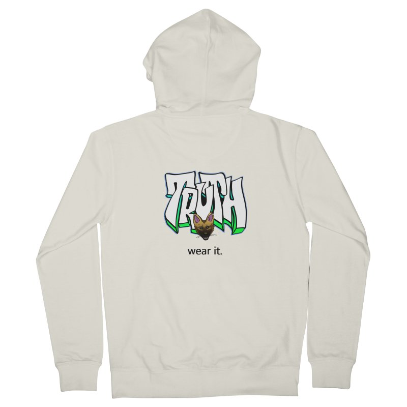 Truth and pup Men's French Terry Zip-Up Hoody by truthpup's Artist Shop