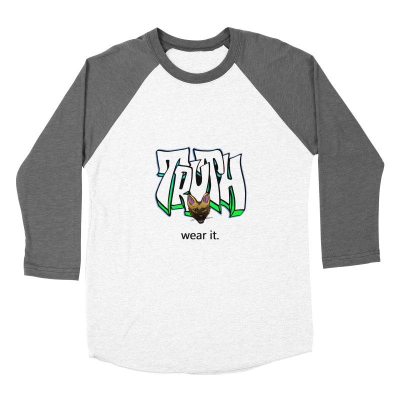 Truth and pup Men's Baseball Triblend Longsleeve T-Shirt by truthpup's Artist Shop
