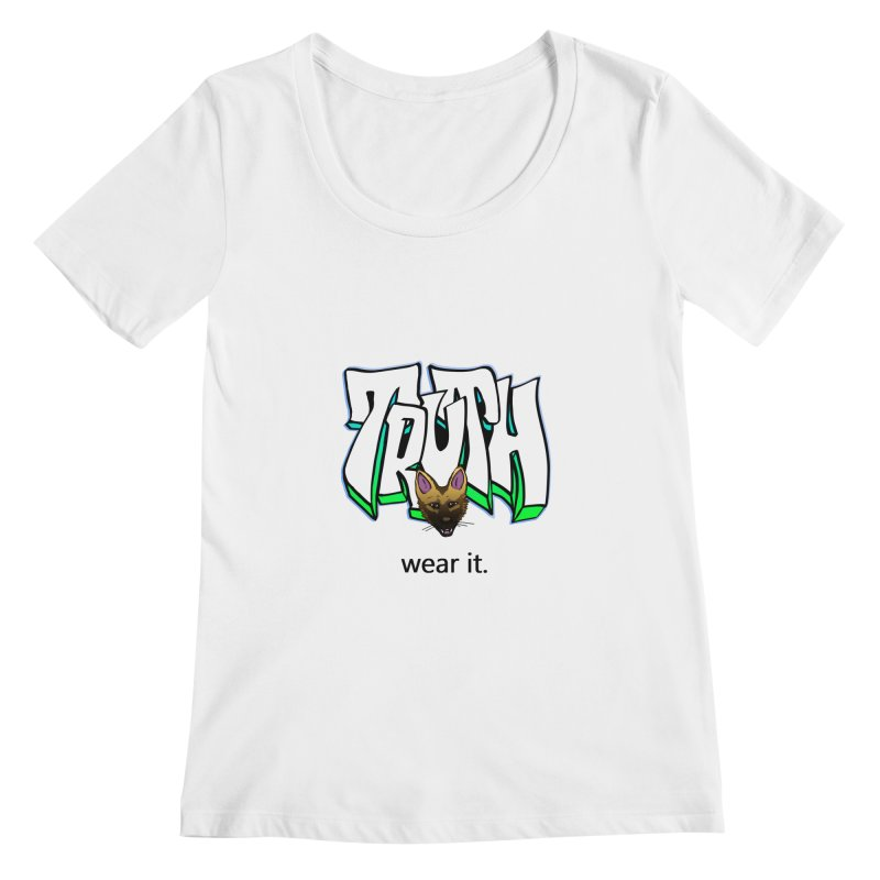 Truth and pup Women's Scoopneck by truthpup's Artist Shop