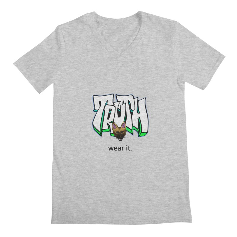 Truth and pup Men's Regular V-Neck by truthpup's Artist Shop