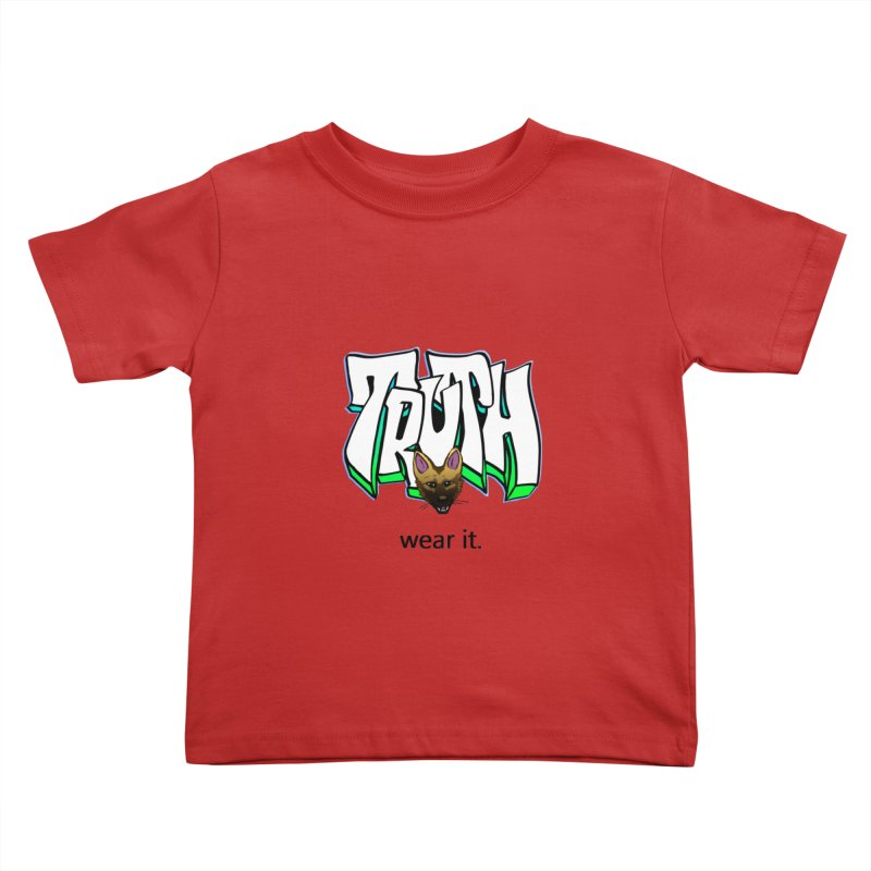 Truth and pup Kids Toddler T-Shirt by truthpup's Artist Shop
