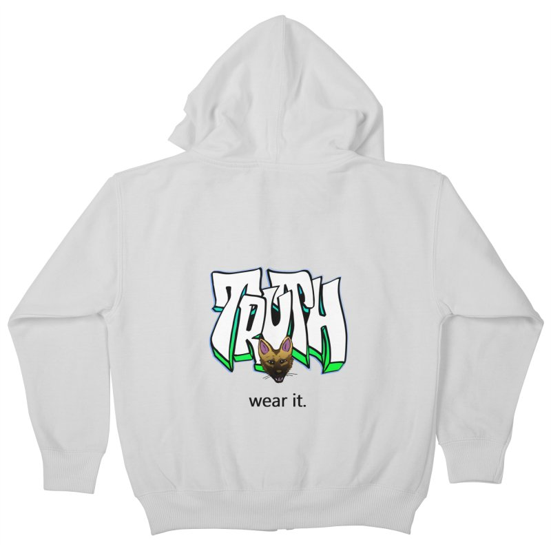 Truth and pup Kids Zip-Up Hoody by truthpup's Artist Shop