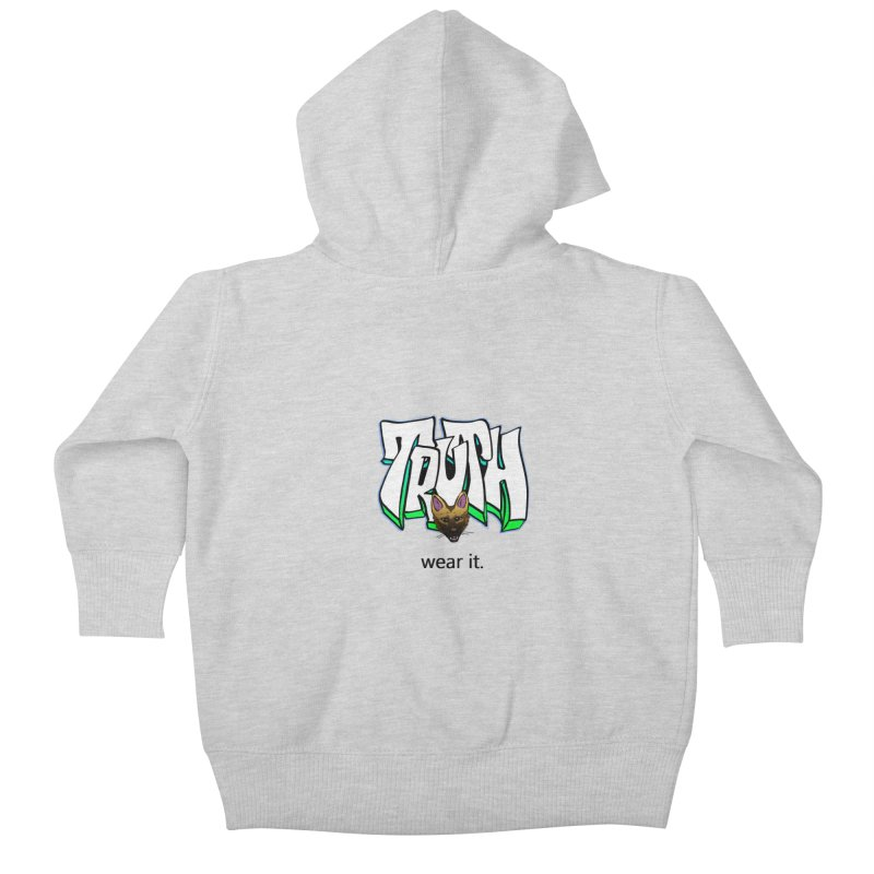 Truth and pup Kids Baby Zip-Up Hoody by truthpup's Artist Shop