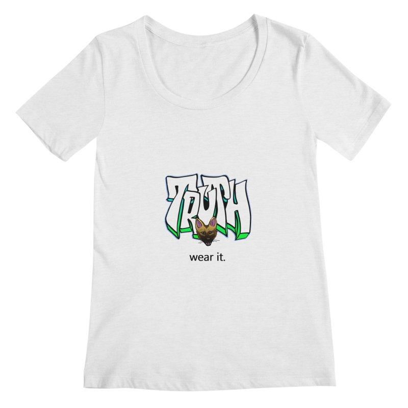 Truth and pup Women's Regular Scoop Neck by truthpup's Artist Shop
