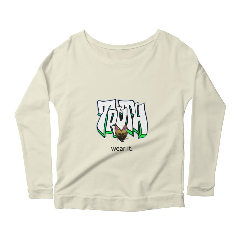 Truth and pup Women's Scoop Neck Longsleeve T-Shirt by truthpup's Artist Shop