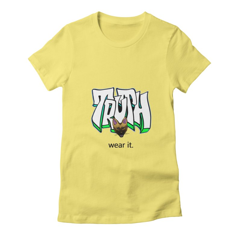 Truth and pup Women's Fitted T-Shirt by truthpup's Artist Shop