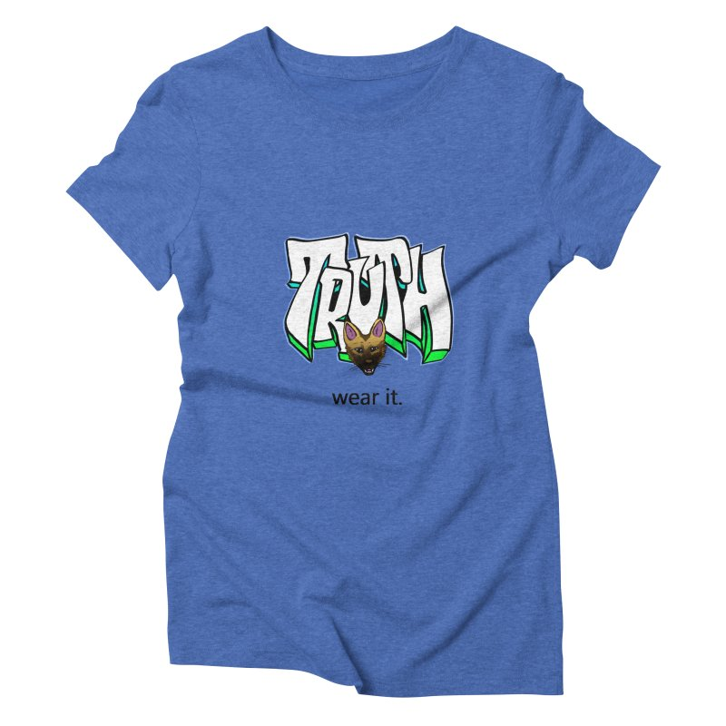 Truth and pup Women's Triblend T-Shirt by truthpup's Artist Shop