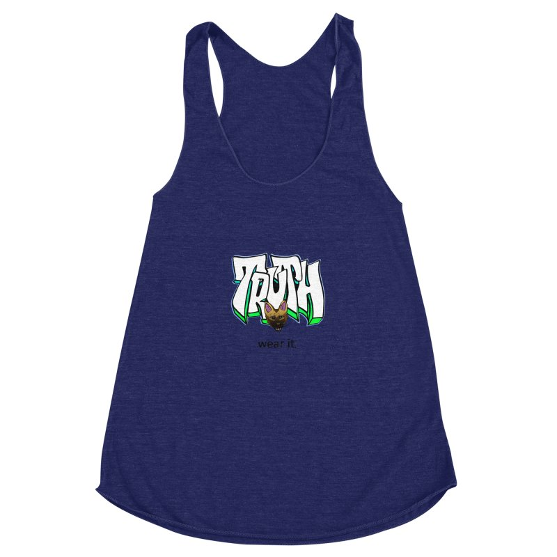 Truth and pup Women's Racerback Triblend Tank by truthpup's Artist Shop
