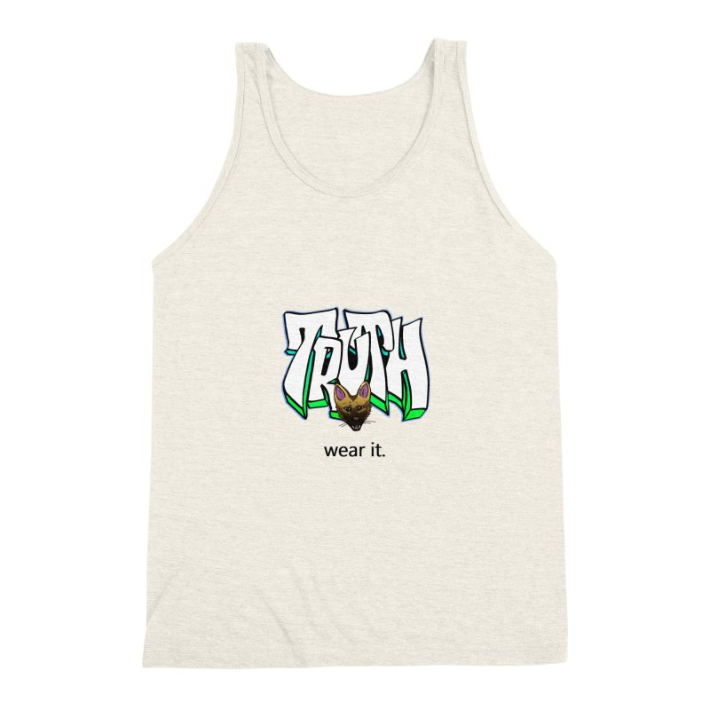 Truth and pup Men's Triblend Tank by truthpup's Artist Shop