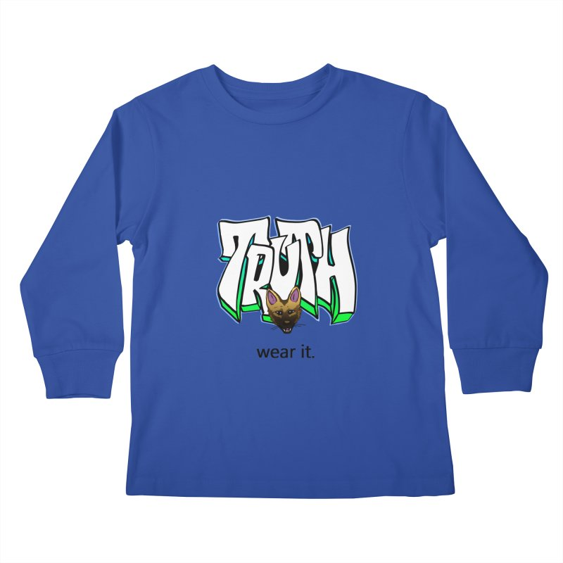 Truth and pup Kids Longsleeve T-Shirt by truthpup's Artist Shop