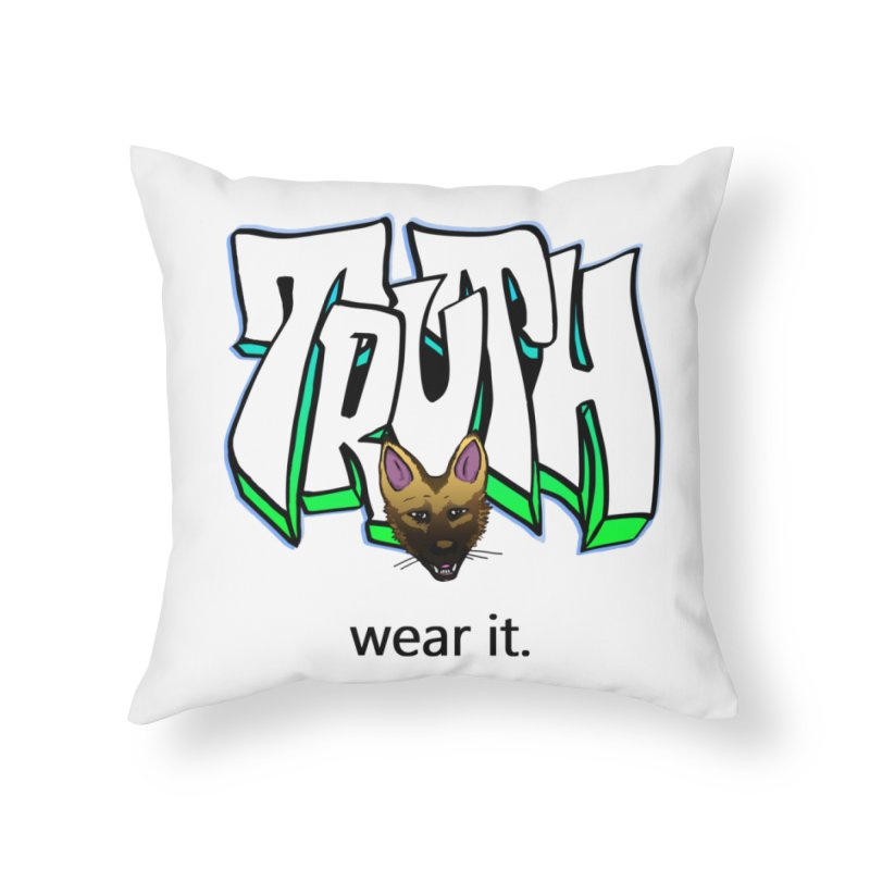 Truth and pup Home Throw Pillow by truthpup's Artist Shop