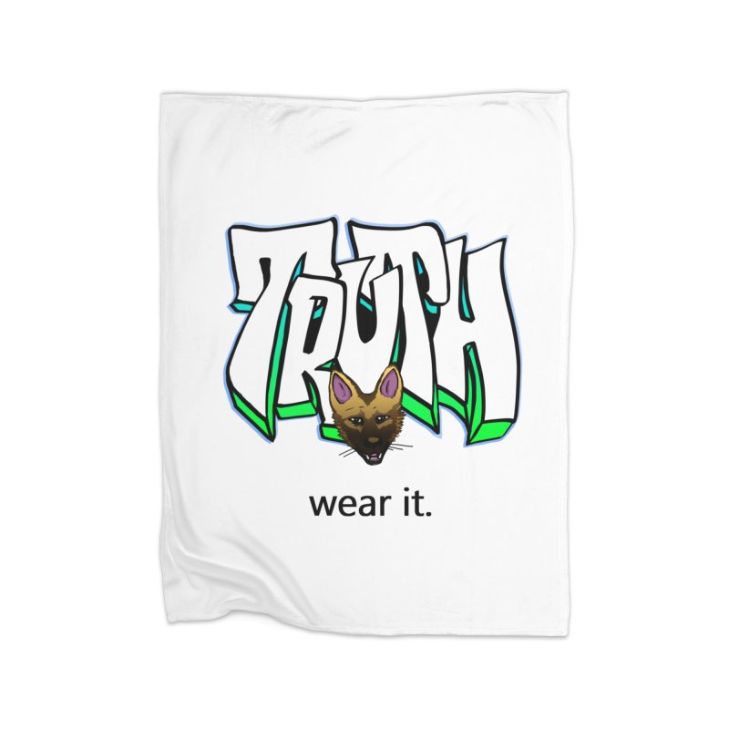 Truth and pup Home Fleece Blanket Blanket by truthpup's Artist Shop