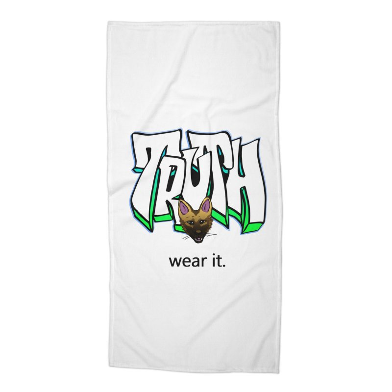 Truth and pup Accessories Beach Towel by truthpup's Artist Shop